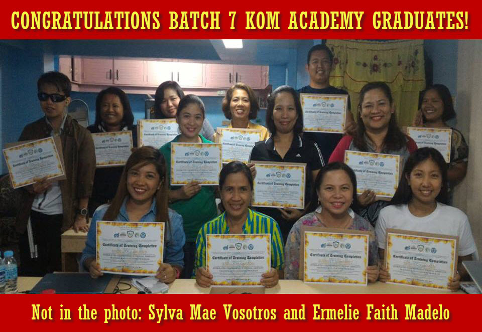 Batch 7 KOM Academy Graduates