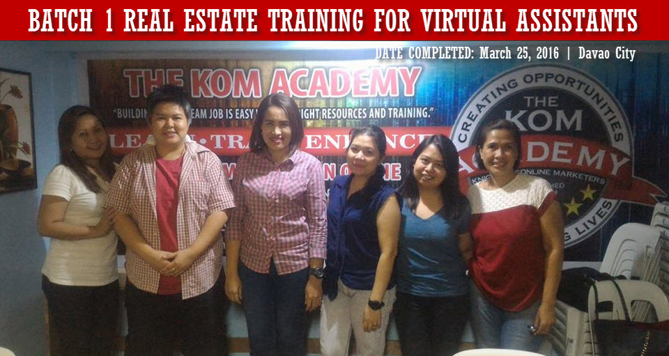Batch 1 Real Estate Training for Virtual Assistants
