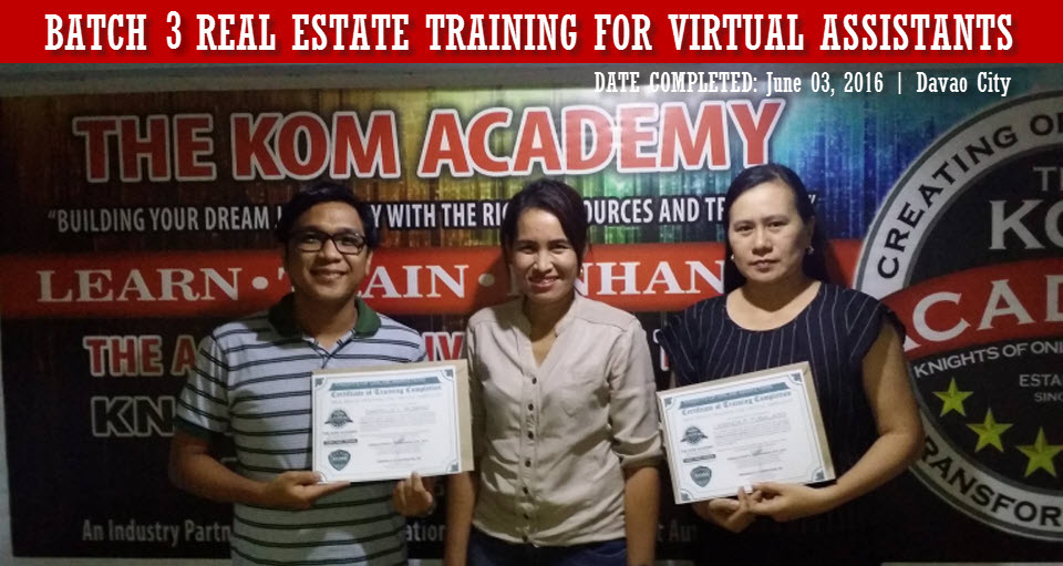 Batch 3 Real Estate Training for Virtual Assistants