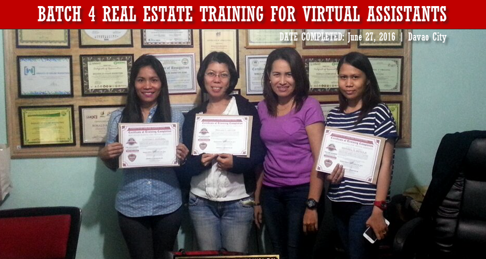 Batch 4 Real Estate Training for Virtual Assistants