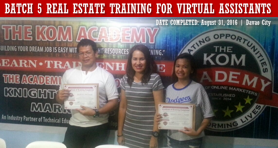 Batch 5 Real Estate Training for Virtual Assistants