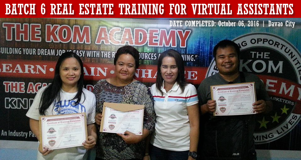 Batch 6 Real Estate Training for Virtual Assistants