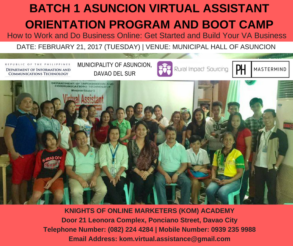 Virtual Assistant Orientation Program