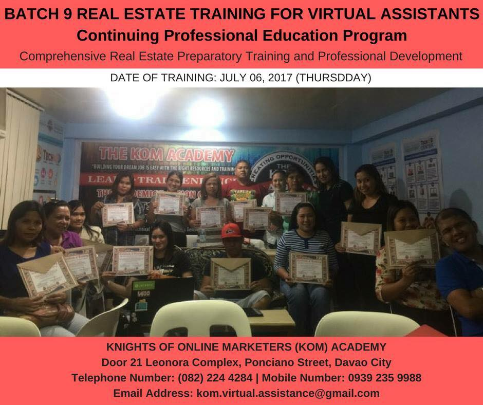Real Estate Training for Virtual Assistants