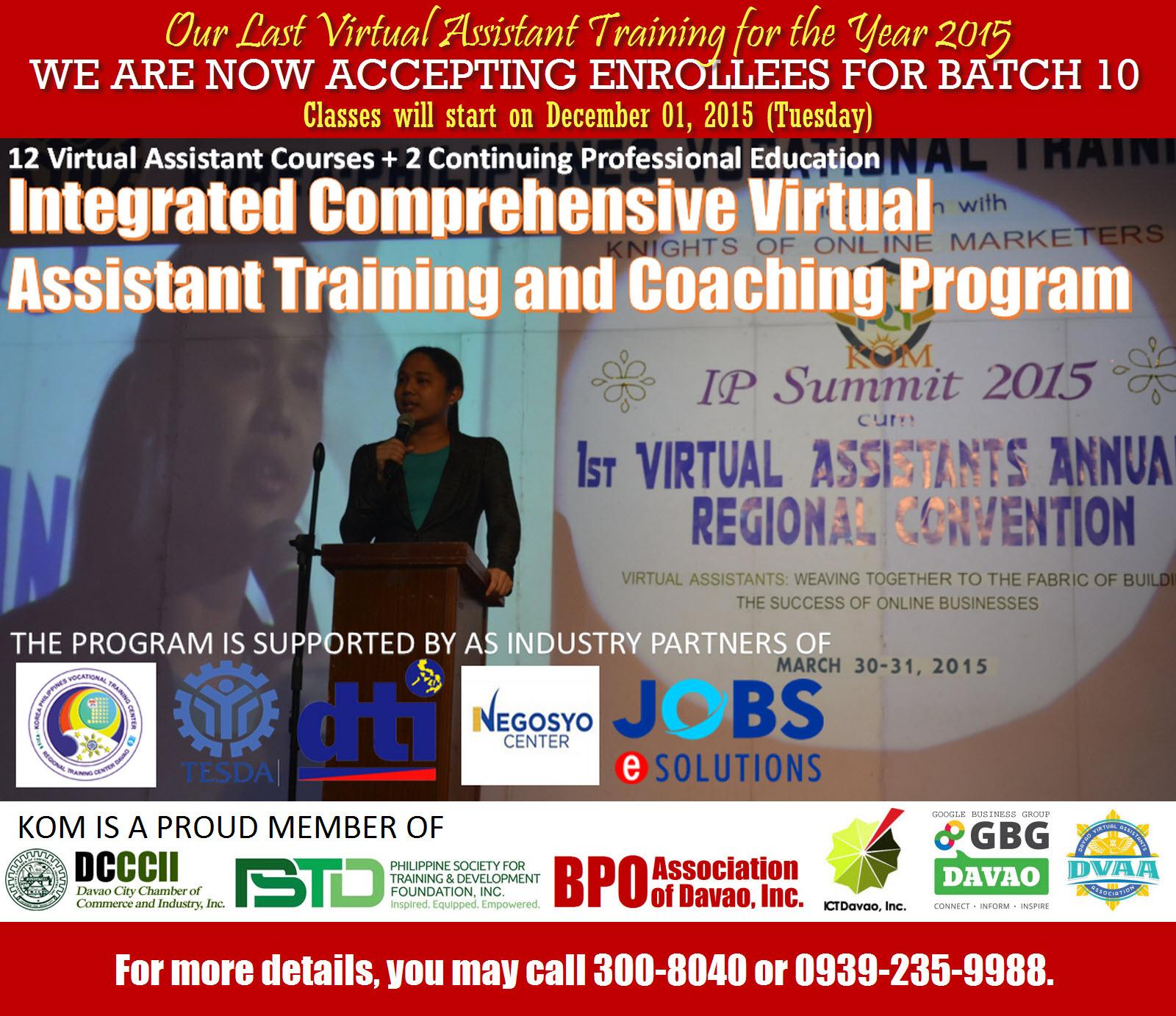 Batch 10 Virtual Assistant Training