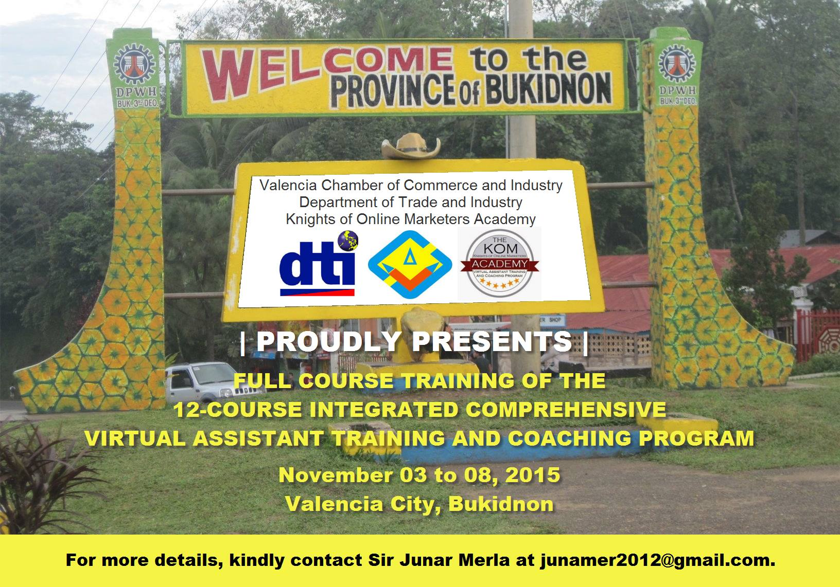Bukidnon Virtual Assistant Training