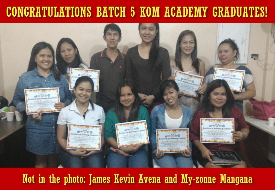 Batch 5 KOM Academy Graduates