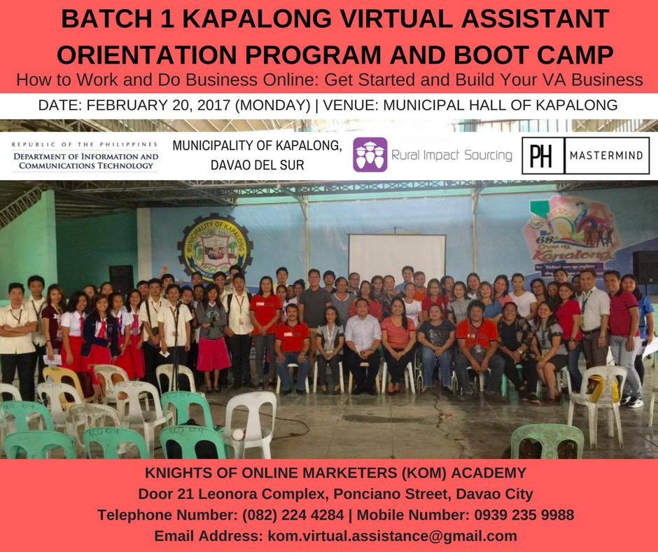 Virtual Assistant Orientation Program